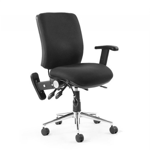 Chiro Medium Back Office Chair With Folding Arms